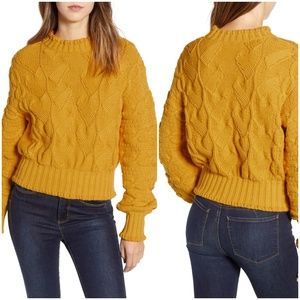 Love by Design Textured Cable Knit Sweater